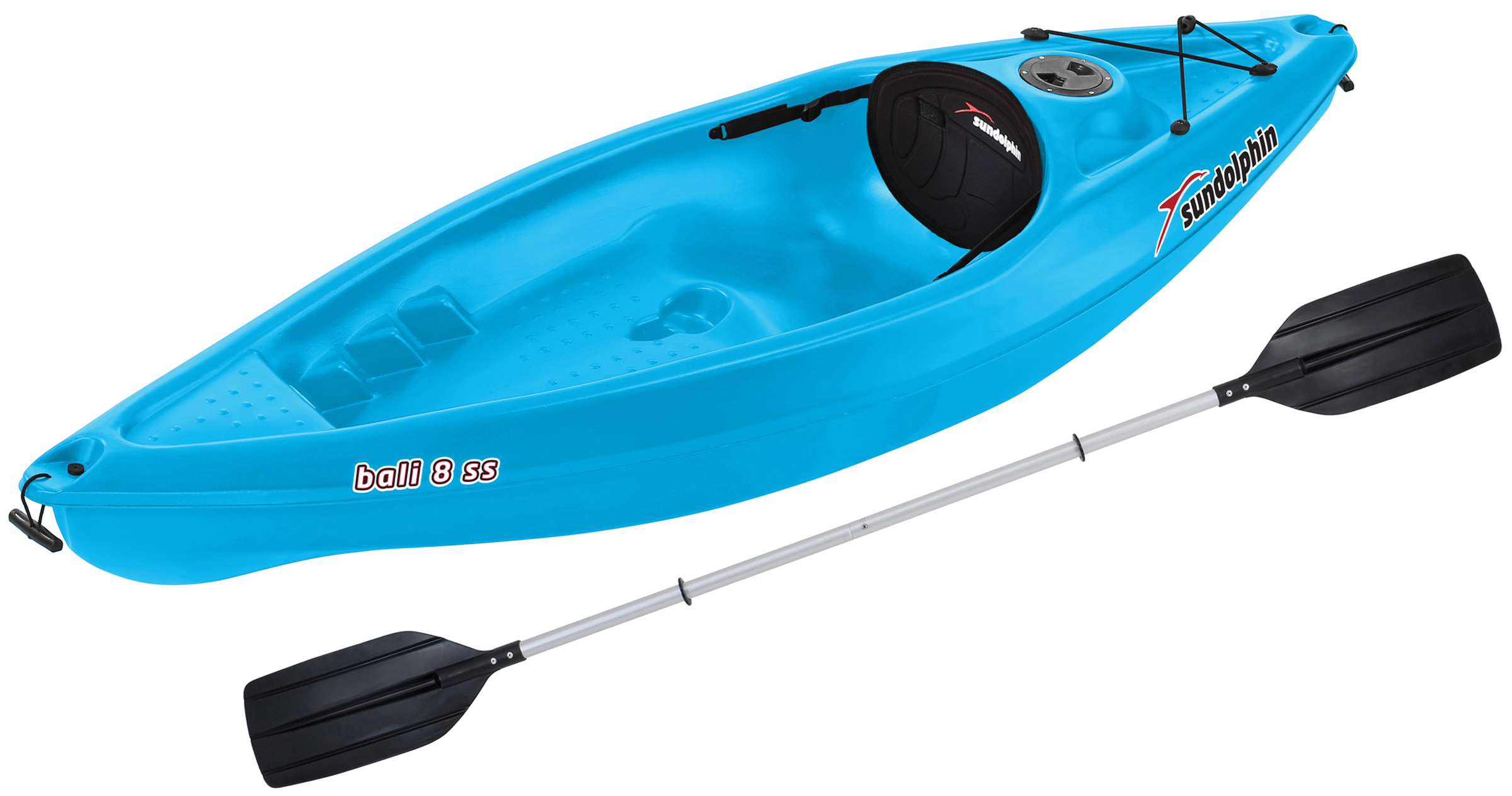 Sun Dolphin Bali 8' Sit-In Kayak, Includes Paddle by KL Outdoor