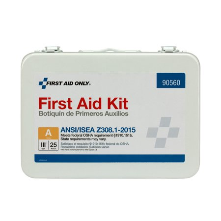 First Aid Kit Metal Case (First Aid Only 89 Piece Metal First Aid Kit, ANSI Compliant )