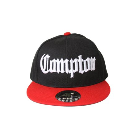 Academy Compton Snapback Hat Black / Red