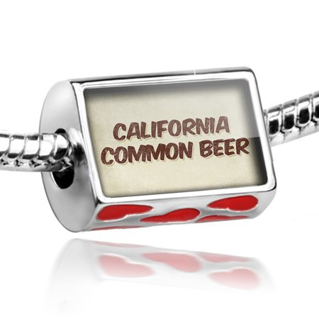 Bead California Common Beer, Vintage style Charm Fits All European Bracelets