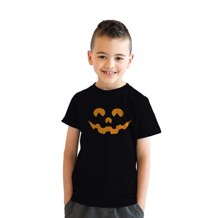 Youth Cartoon Eyes Pumpkin Face Funny Fall Halloween Spooky T - Halloween Pumpkin Cartoons