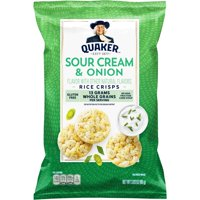 Quaker Rice Crisps, Sour Cream & Onion, 3.03 oz Bag