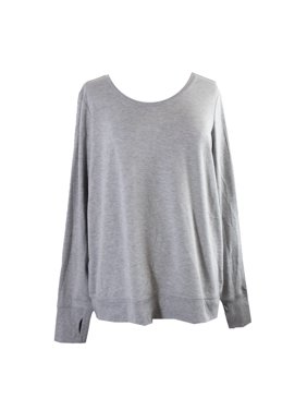 903fa618b79 Product Image Ideology Plus Size Grey Open-Back Top 1X