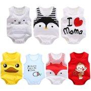 SANUME Baby Organic Short Sleeve Onesies Bodysuits