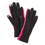 Isotoner Smart Touch Womens Black & Pink Fleece Smartouch Texting & Tech Gloves