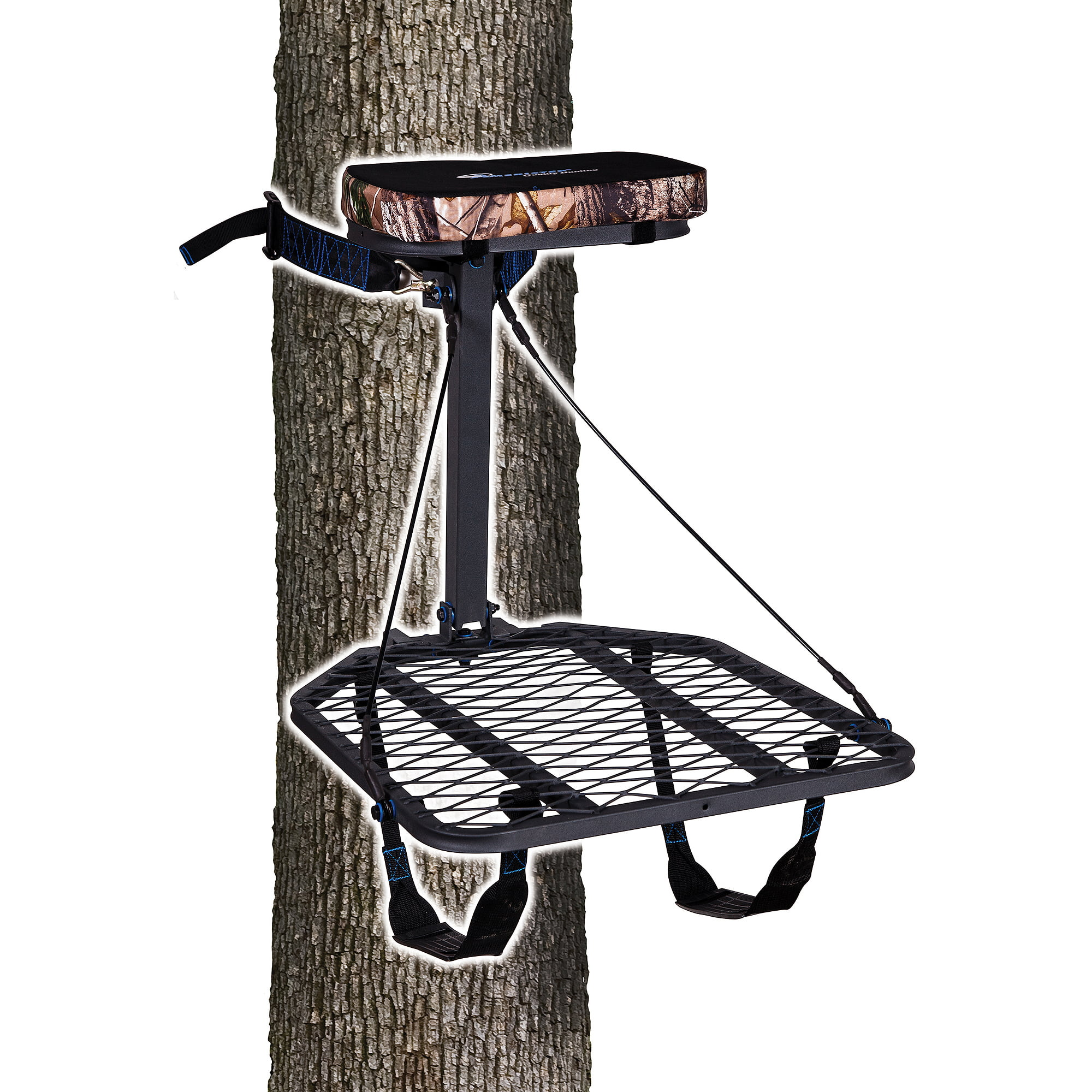 Ameristep Hang-On Treestand with Realtree Seat Cushion & Backpack Straps, includes Safety DVD by Ameristep