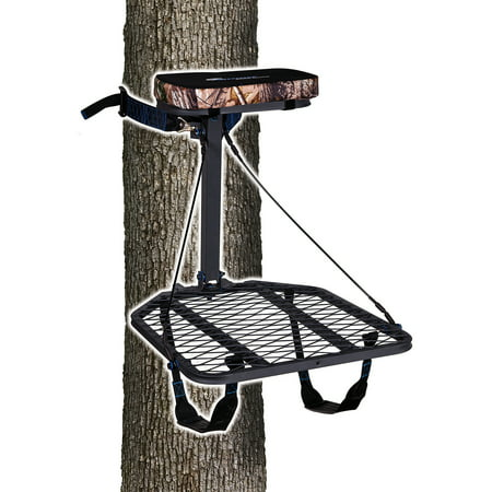 Ameristep Hang-On Treestand with Realtree Seat Cushion & Backpack Straps, includes Safety DVD thumbnail