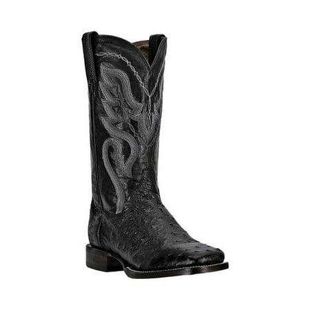 Dan Post Men's C C Black Full Quill Ostrich Chandler Western Boots (Dan Post Ostrich Boots)