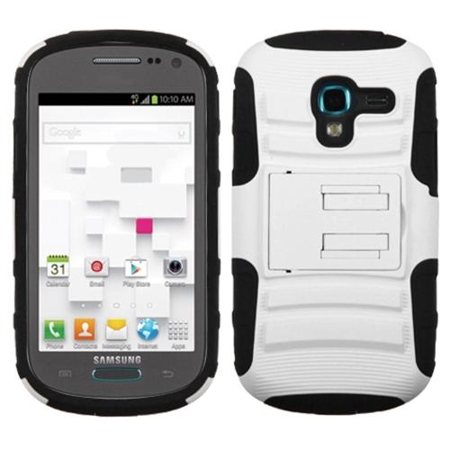 Insten White/Black Advanced Armor Stand Case For SAMSUNG T599 Galaxy Exhibit