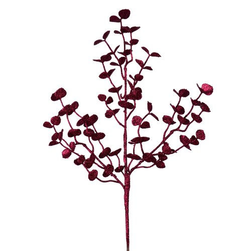 The Holiday Aisle 12 Piece Glitter Eucalyptus Branch (Set of 12)