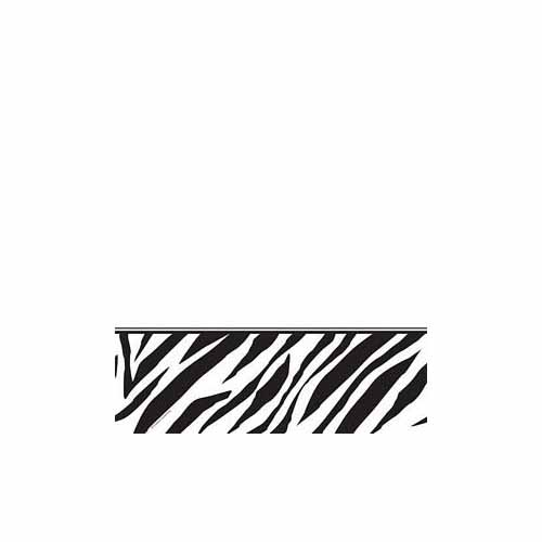 Zebra Print Plastic Tablecover by Creative Converting - 727223