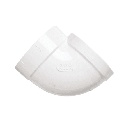 NuTone CF382XS 90 Degree Short Socket Ell for VacPan Dustpan Inlets