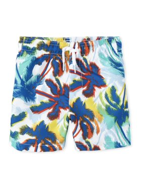 The Children's Place Baby Toddler Boy Palm Tree Swim Trunks
