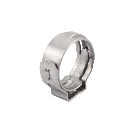 9.6mm-11.3mm 304 Stainless Steel Adjustable Tube Hose Clamps Silver Tone 10pcs - image 1 of 3