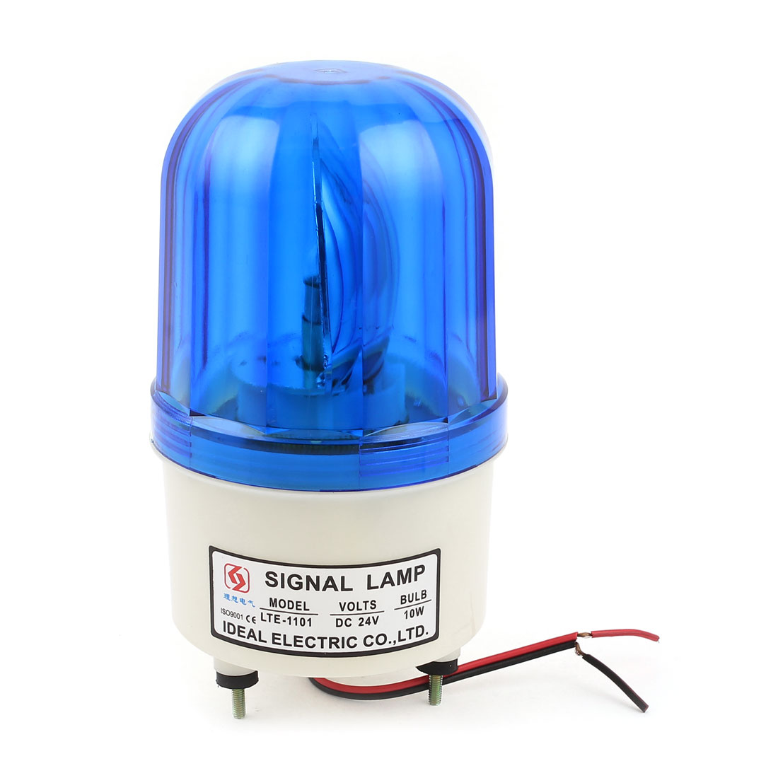 Unique Bargains Industrial Blue LED Tower Buzzer Sound Lamp Flash Light Bulb 10W DC 24V
