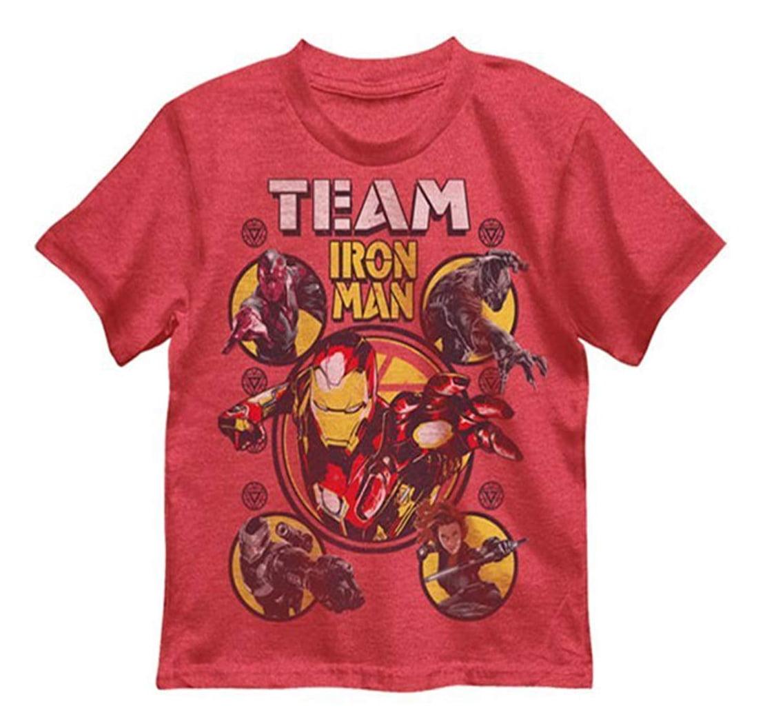 Marvel Captain America Civil War Iron Man Core Crew Boys T-Shirt | 4