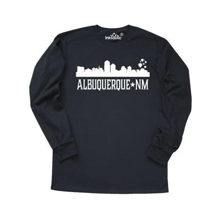 Albuquerque New Mexico City Skyline Silhouette Long Sleeve T-Shirt](Party City Albuquerque New Mexico)