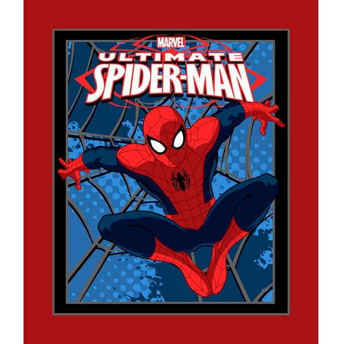 Springs Creative Marvel Spiderman Splatter Web Panel Fabric by the Yard