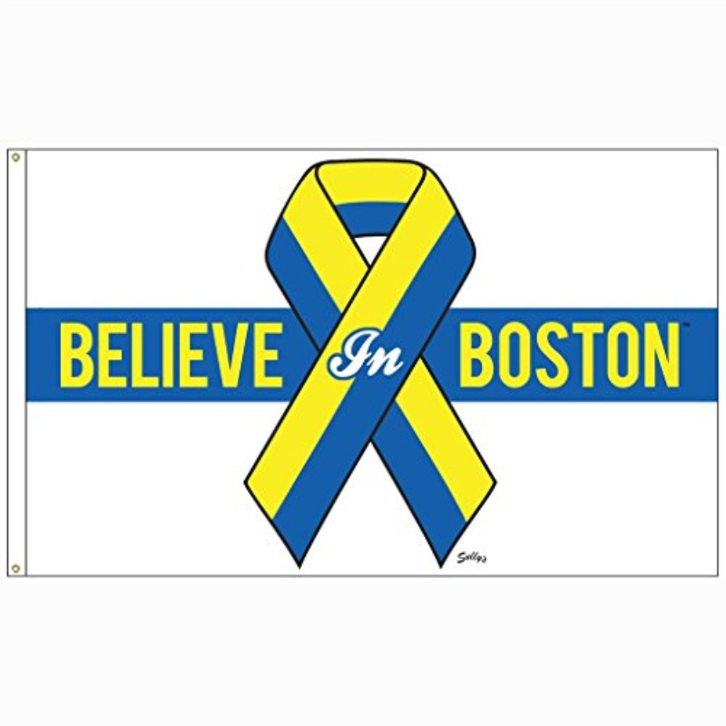 Sully's Brand Believe in Boston (Blue and Yellow) Banner