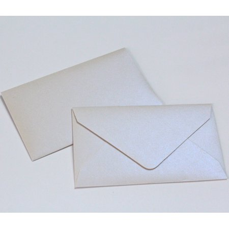 """Wedding Favor Envelopes Mini Envelopes for $1 State Lottery Tickets Gift Cards - Qty 50 - Metallic Pearl - 2.5"""" x 4.25"""""""