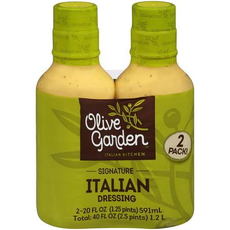 Olive Garden Italian Kitchen Signature Italian Dressing 2 20 Fl Oz Bottles
