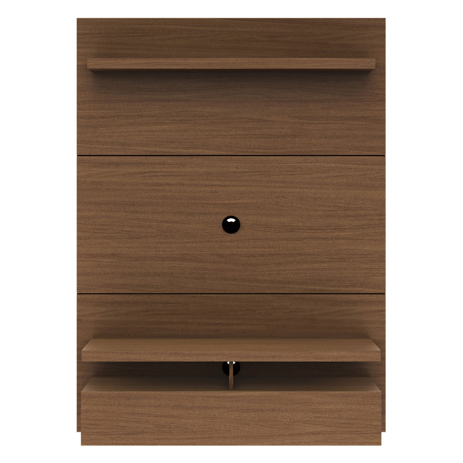 City 1.2 Floating Wall Theater Entertainment Center in Nut Brown