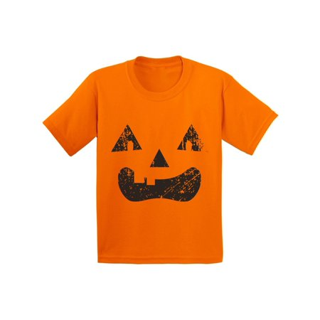 Awkward Styles Spooky Jack o Lantern Shirt Youth Halloween Shirts Halloween Shirts For Kids Pumpkin Face Tshirt Youth Kids - Draw Halloween Pumpkin Face