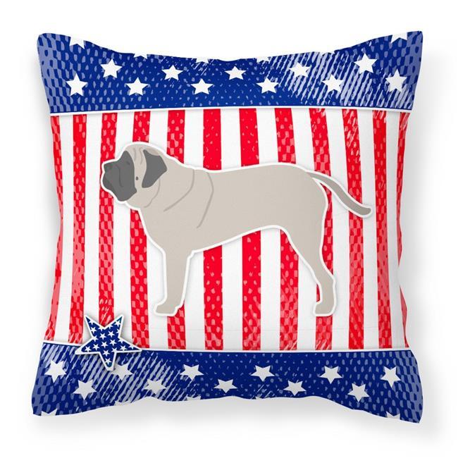 Carolines Treasures BB3356PW1414 USA Patriotic English Mastiff Fabric Decorative Pillow - image 1 de 1
