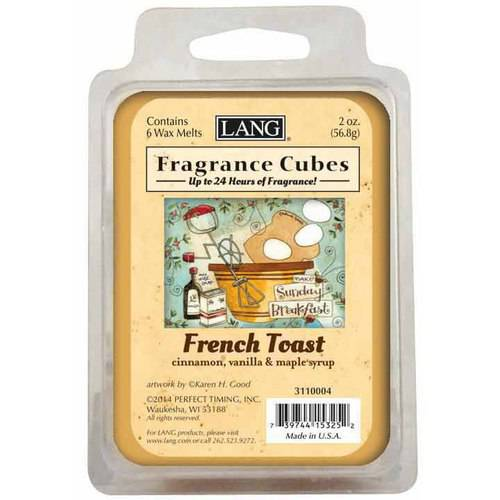 LANG French Toast 2-Ounce Fragrance Cubes Scented with Cinnamon, Vanilla and Maple Syrup