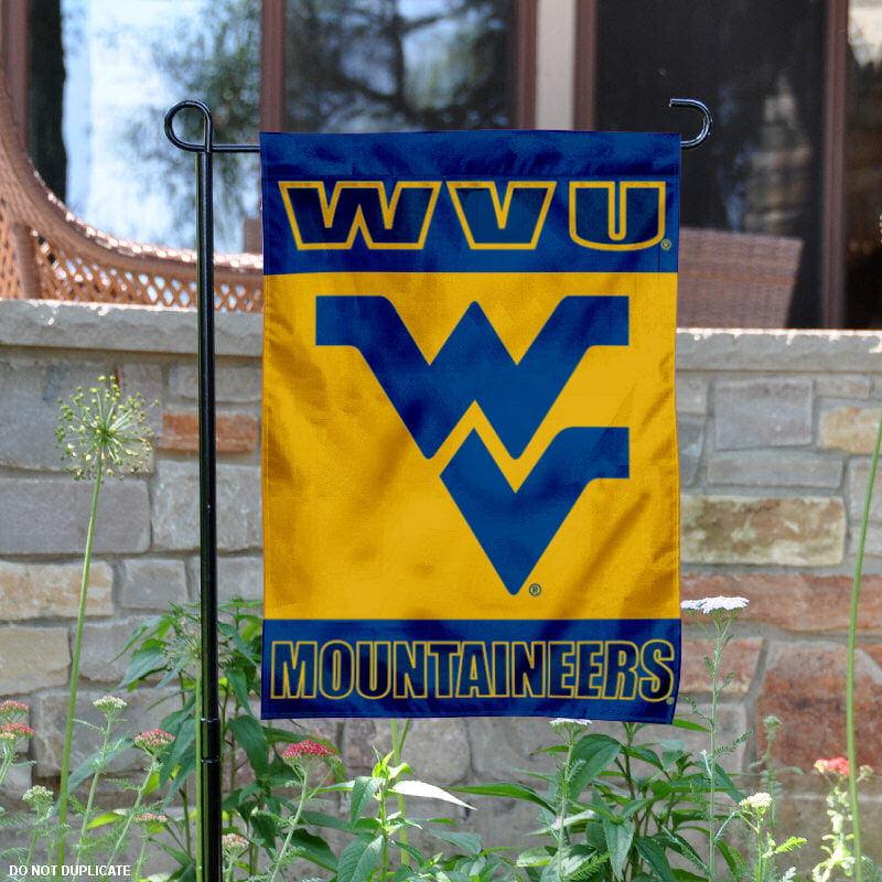 """West Virginia Mountaineers 13"""" x 18"""" College Garden Flag"""