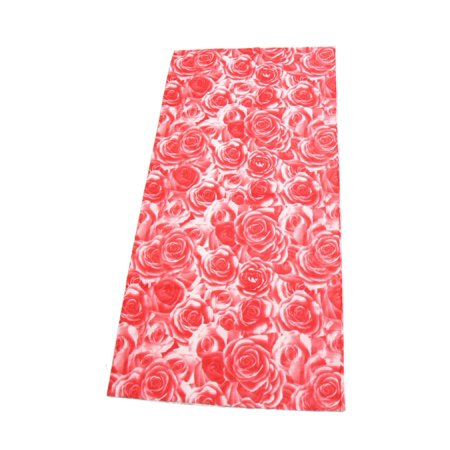 Pink Rose Pattern Outdoor Sports Scarf Headband Veil Turban Headscarf for $<!---->