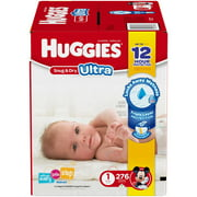 HUGGIES Snug & Dry ULTRA Diapers, Economy Plus Pack, (Choose Your Size)