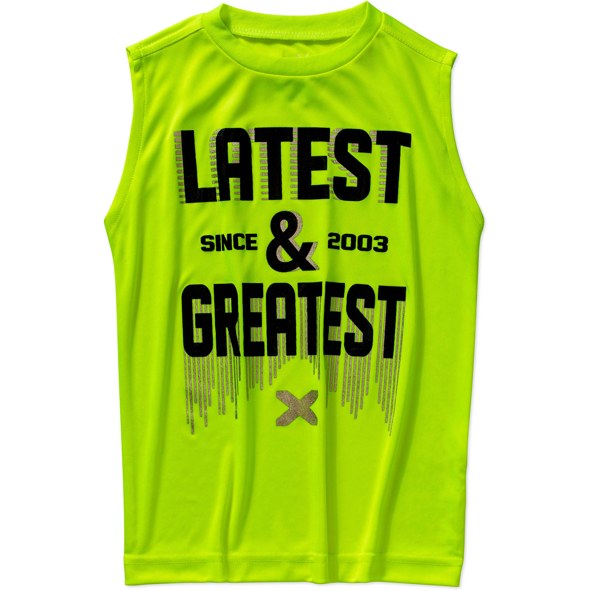 "Live Xtreme Boys' ""Latest & Greatest"" Graphic Active Muscle Top"