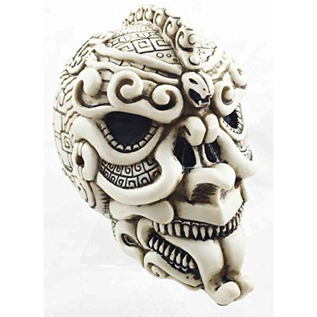 Aztec Civilization Snake Ape Warrior Tattoo Skull Figurine Halloween Skeleton - Halloween Figurine