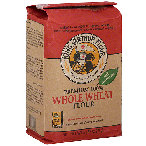 King Arthur Flour Whole Wheat Flour, 5 lb (Pack of 8)