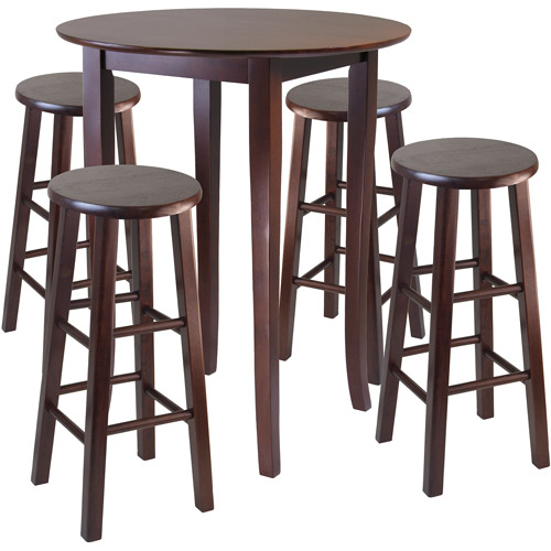 5-Piece Fiona High DIning Set, Multiple Finishes