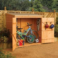Rowlinson Wall-Store 6 Ft x 2 Ft. 8 In. Wood Storage Shed