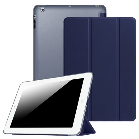 Fintie Case for Apple iPad 4th Generation with Retina Display, iPad 3 / iPad 2 PU Leather Cover Auto Wake/Sleep Navy Apple 4th Generation Cover