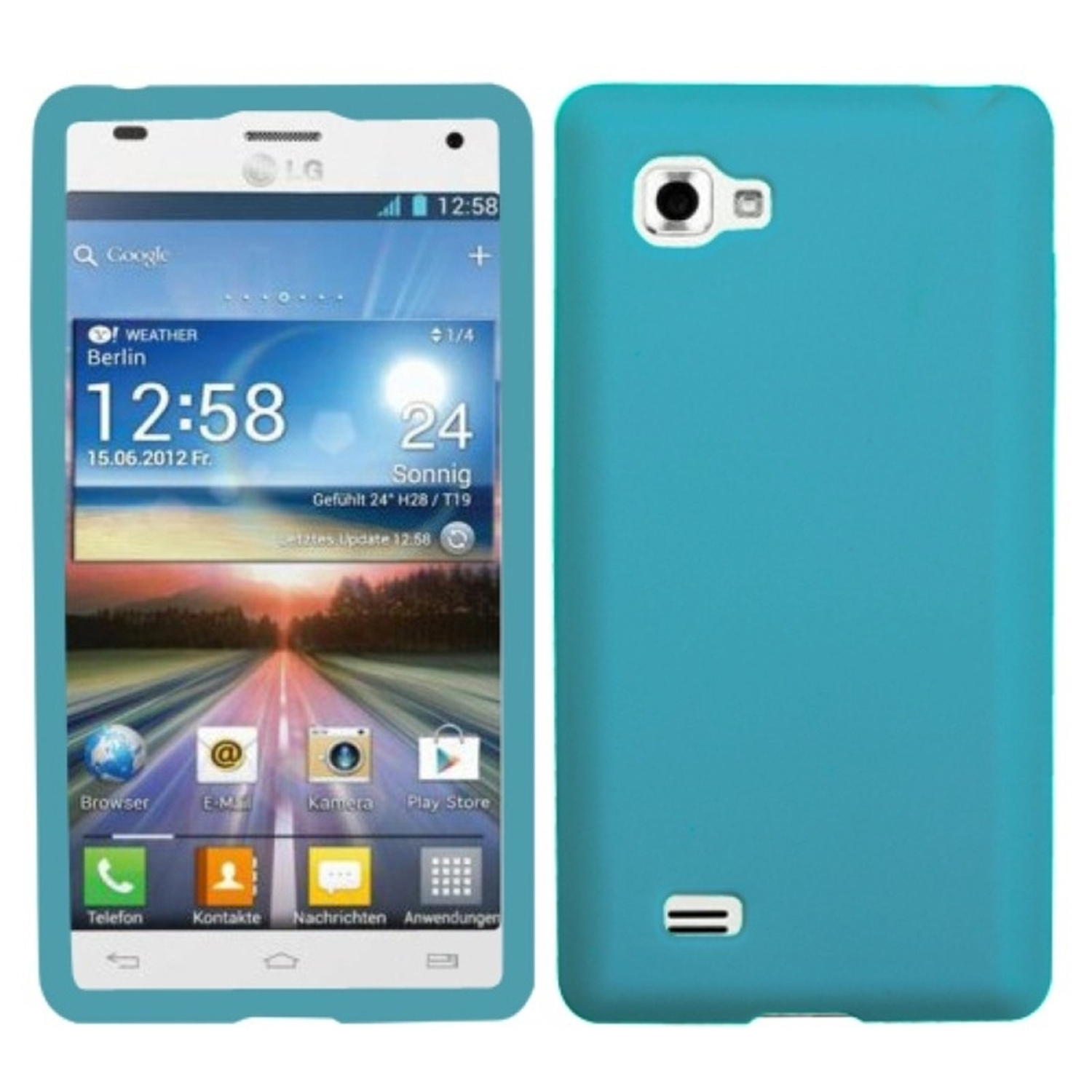 INSTEN Solid Skin Case (Tropical Teal Green) for LG: P880 (Optimus 4X HD)
