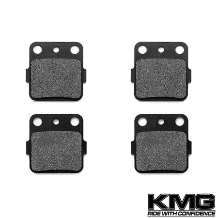 Front Brake Pads for 1999-2000 Honda TRX 400 EX Fourtrax - Non-Metallic Organic NAO Brake Pads Set - image 4 de 4