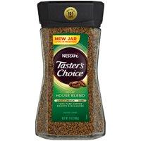 (2 Pack) NESCAFE TASTER'S CHOICE Decaf House Blend Medium Light Roast Instant Coffee 7 oz. Jar