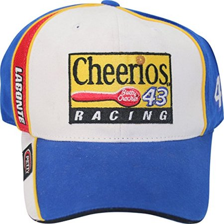 Bobby Labonte #43 Petty Enterprises Cheerios Vintage Racing Adult Adjustable Cap Hat ()