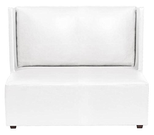 Howard Elliott Atlantis White Square Loveseat by Howard Elliott
