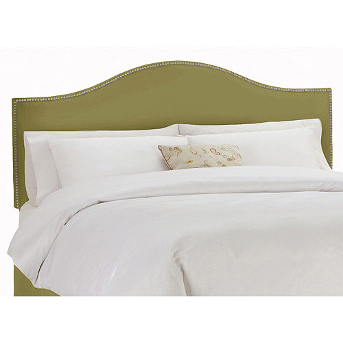 Skyline Furniture Sage Upholstered Arched Headboard with Nailheads, Multiple Sizes
