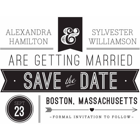 Retro Banner Standard Save the Date](Graduation Save The Date)