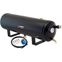 Vixen Horns 3 Gallon (12 Liter) 7 Ports Train/Air Horn Tank System/Kit 200 PSI with Gauge,Pressure Switch,Drain and Safety Valve,Compression Fitting,Male Plug,Hose,Thread Sealant VXT3000