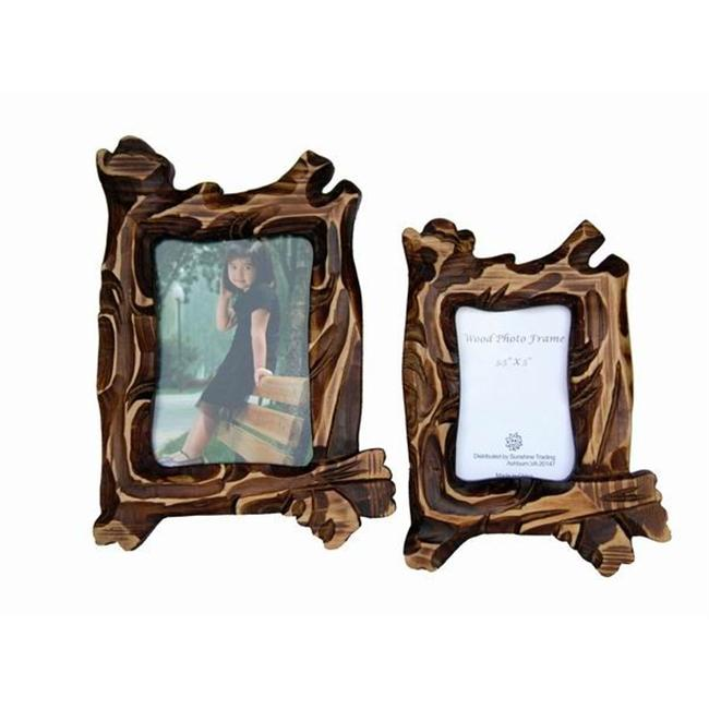 Sunshine Trading ST-16-7 Handmade Wood Photo Frame - 5 x 7 Inch