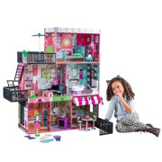 KidKraft Wooden Brooklyn's Loft Dollhouse with 25 Accessories Included