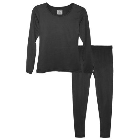 Women's Ultra-Soft Micro-Fleece Lined Thermal Base Layer Top & Legging -