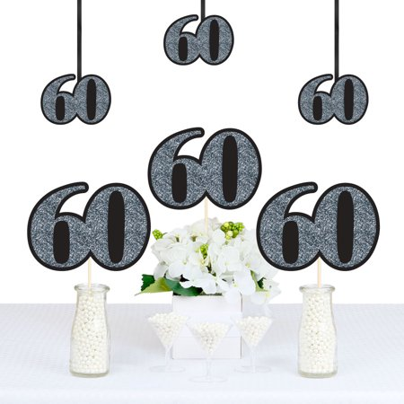 Adult 60th Birthday - Silver - Decorations DIY Party Essentials - Set of 20](60th Birthday Table Decorations Ideas)